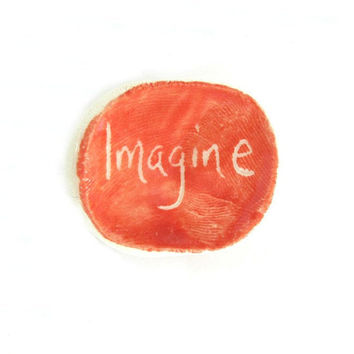 Imagine, Word Photograph, Word Text Typography Imagine Pure & Simple, Earth Worthy Word, Featured On Etsy's Front Page, FREE SHIPPING USA