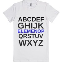 Alphabet Soup-Female White T-Shirt