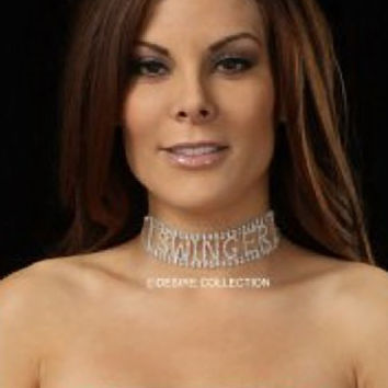 SWINGER Rhinestone Choker-Swinger wear jewelry