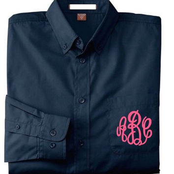 Button- Up Shirt- Monogrammed Weddings Bridesmaid