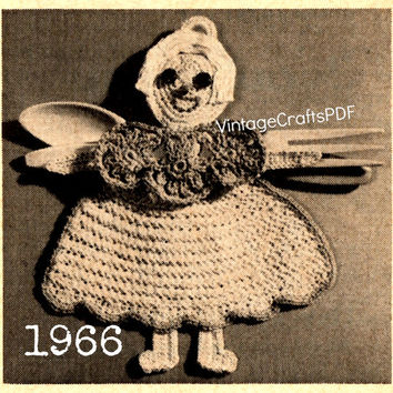 1966 Crochet Pattern | Kitchen Trio Gift | House Warming Gift-Wall Ornament-Gypsy Decor-Home Decor-Boho Chic-Kitchen Ware- Direct from USA