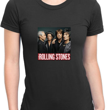 The Rolling Stones Cover Photo Womens T Shirt