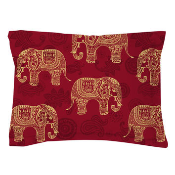 Paisley Elephants Pillow Shams