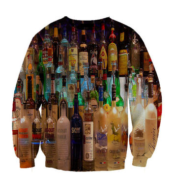 Liquor Bottles 2 sweatshirt Fan Art All Over Style Print