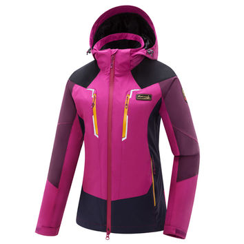 Hiking Jackets Skiing Jackets outdoor Jackets women warm waterproof windstop jacket triple 3-in-1 coat