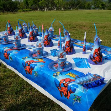 Spiderman Superhero Avengers Kids Birthday Party Decoration Set Party Supplies Baby Birthday Pack event party supplies AW-1664