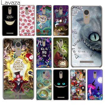 Lavaza Alice in Wonderland cat Hard Phone Case for Xiaomi Redmi 4A S2 6 Note 5 Plus 3 3S 4 Pro 4X 5A Prime Cover