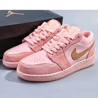 NIKE AIR FORCE fashionable ladies pink low-top casual sneakers