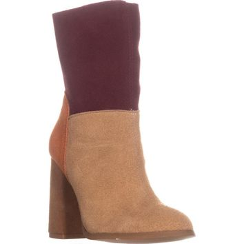 Chinese Laundry Classic Block Heel Dress Ankle Boots, Suede Camel Multi, 5 US / 35 EU