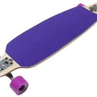 Purple Drop Through Thru Complete Longboard Skateboard