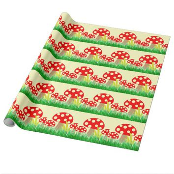 Mushrooms Wrapping Paper