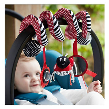 Cute Spiral Activity Stroller Car Seat Cot Lathe Hanging Babyplay Travel Toys Newborn Baby Rattles Infant Toys