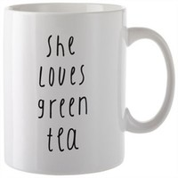 She Loves Green Tea Mug