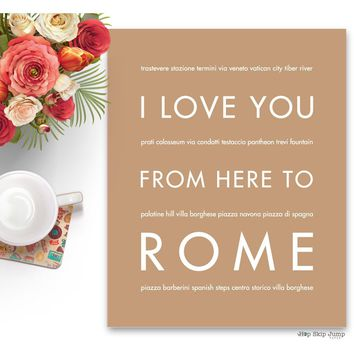 ROME Travel Art Print | Gift Idea | HopSkipJumpPaper