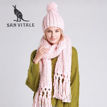 Scarves Women Scarf Christmas Clothes Poncho Small Square Silk Designer Scarf Women Luxury 2017 New High Quality Scarf Hat Sets
