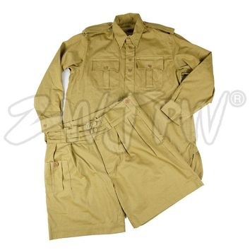 WWII WW2 UK ARMY SOLDIER BRITISH P37 ARMY SUIT MILITARY UNIFORM SUMMER COAT AND PANTS- World military Store