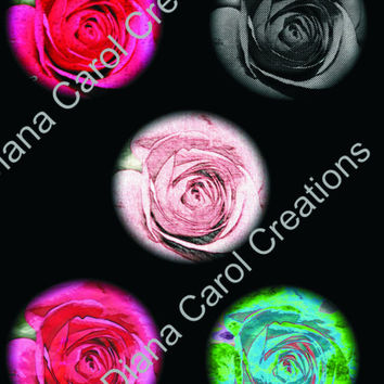 Lovely Rose Clip Art For You To Use For Making Pendants, Greeting cards, Magnets and Scrap Book Art Projects.