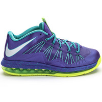 Nike LeBron X Air Max Low Men?s (VIOLET/PLATINUM/VOLT/TURQUOISE)