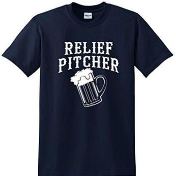 Relief Pitcher Dinrking Party Fun Beer Novelty Mens Funny T Shirt