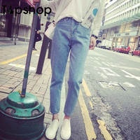 2016 Fashion Loose Jeans American Apparel Mom Jeans Boyfriend Jeans For Women High Waist Jeans Cargo Demin Pants Woman Casual