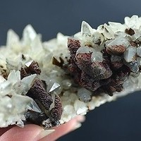 stunning clearcalcite w/PYRITIC