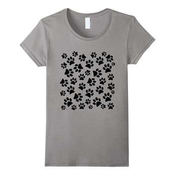 Dog Paw Print Easy and Simple Halloween Costume T-Shirt