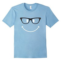 Hipster Smilie Face T-shirt Smilie Face With Glasses Tee