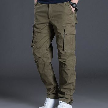 2018 Brand New Tactical Men Pants Trousers Men's Cargo Pants Casual Mens Pant Multi Pocket Military Men Outdoors Cotton Trousers