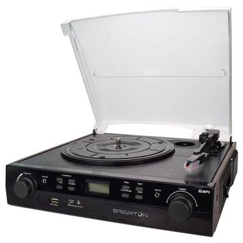 Record Player + Cassette Recorder BRIGMTON BTC-406REC USB SD / MMC