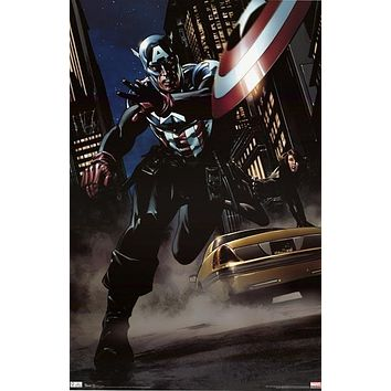 Captain America Black Widow Marvel Comics Poster 22x34