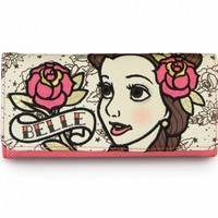 """""""Belle Tattoo Princess"""" Fashion Wallet by Loungefly (Biege/Pink)"""