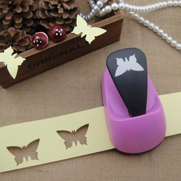 Freeship! 2''(50mm) butterfly paper punch for crafts and scrapbooking cortador de papel embossing machine hole punch R484