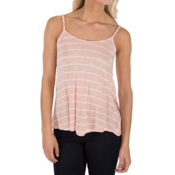Pink Rose Juniors Striped Tank with Braided Straps at Von Maur