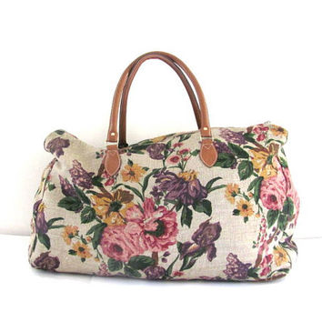 Shop Floral Overnight Bag On Wanelo