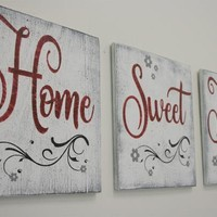 Home Sweet Home Wood Sign Living Room Decor