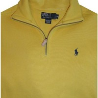 Men's Polo by Ralph Lauren Long Sleeve Pullover Sweater Yellow Size Medium