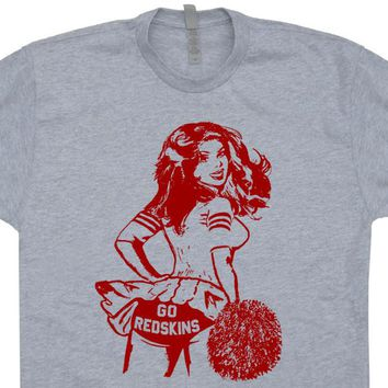 Vintage Washington Redskins T Shirt Washington Redskins Shirt Cheerleader Shirt