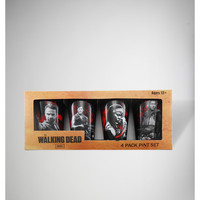 The Walking Dead Pint Glass 4-Pack