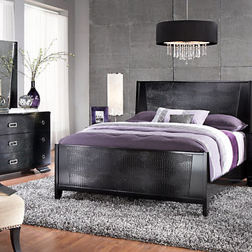 Sofia Vergara Biscayne Queen Black 5Pc Panel Bedroom
