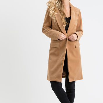 Susanne Camel Button Coat