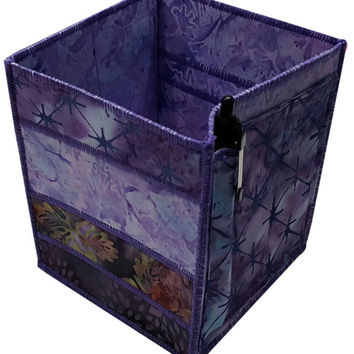 Home Storage Organizer in Purple Batiks