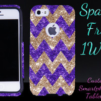 OTTERBOX Case for iPhone 5 iPhone 5s Otterbox Commuter Chevron Glitter Design Purple Gold Case Cute Stylish Sparkly Girl iPhone Otterbox