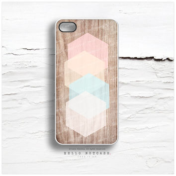 iPhone 5C Case Wood Print,TOUGH iPhone 5s Case Geometric, iPhone 4 Case, iPhone 4s Case, Pastel iPhone Case, Mint Cream iPhone Cover I119