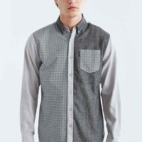 Staple Haxby Woven Button-Down Shirt- Grey