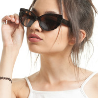 Tortoise Mega Wing Cateye Sunglasses