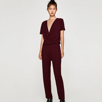 FLOWING CROSSOVER JUMPSUIT