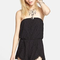 Women's Free People 'Tahlia' Strapless Lace Romper