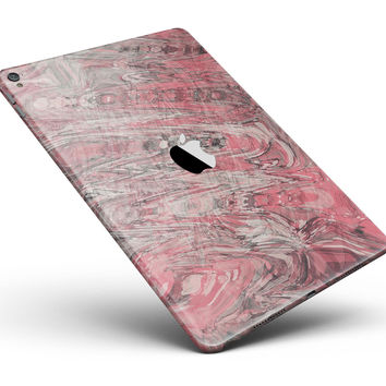 """Red Slate Marble Surface V40 Full Body Skin for the iPad Pro (12.9"""" or 9.7"""" available)"""