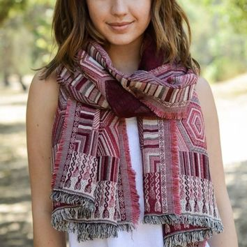 Ruby Woven Scarf