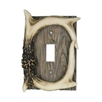 River's Edge Single Switch Cover - Deer Antler